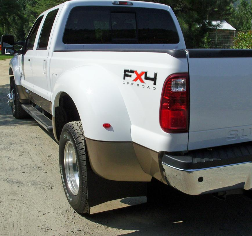 Dually Rear Mud Flaps For Ford 2003-Current 20″ Wide