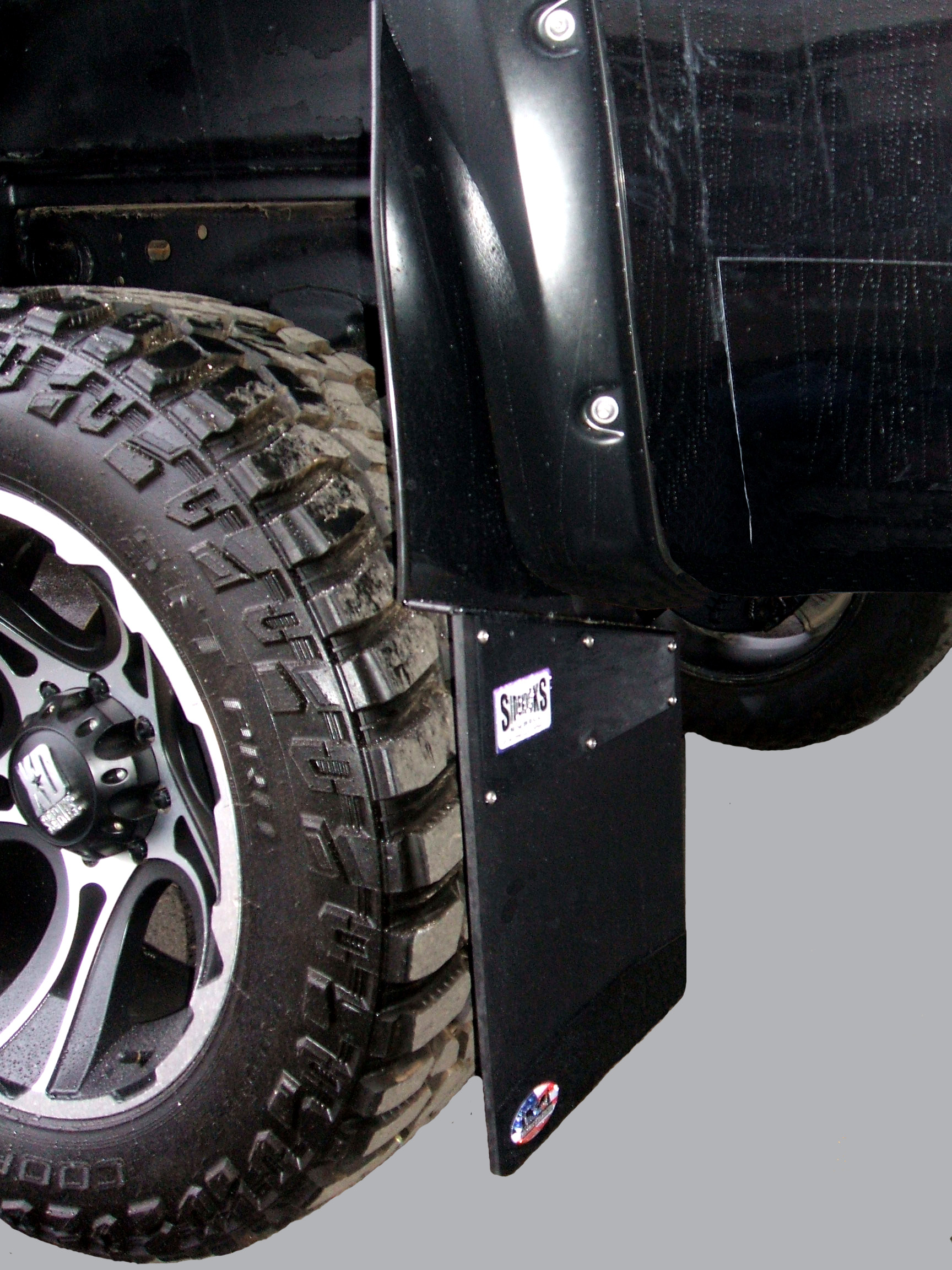 Chevy Mud Flaps >> SideKicks A KickBack Style Mud Flap Universal Fit Front Or Rear Full Size Trucks Stainless ...