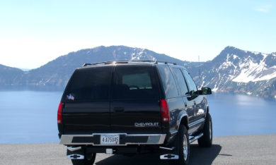 Bow Tie Bumper On A Chevy Tahoe At Lake Tahoe